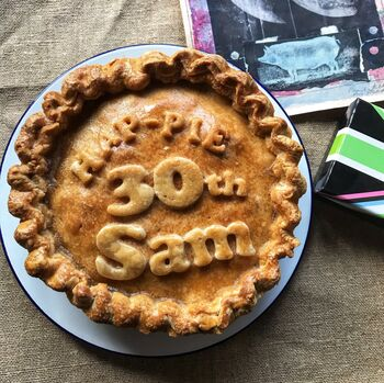 Large Personalised Pork Pie For Anniversary Or Birthday