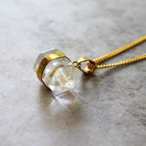 Children's Crystal Quartz Nugget Necklace - for children