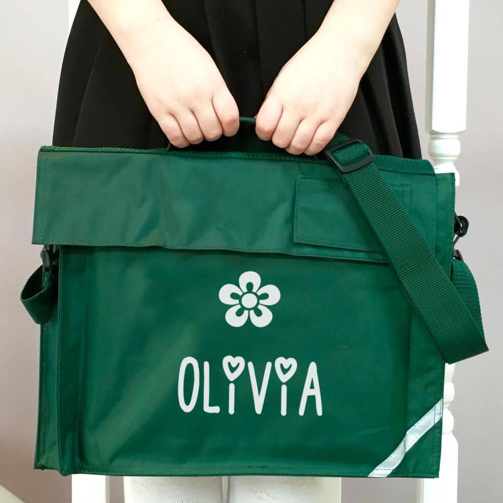S Personalised School Book Bag