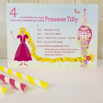 16 Rapunzel Party Invites Or Thank You Notes