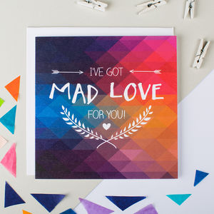 'Mad Love' Funny Anniversary Card - shop by category