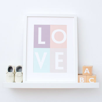 Pastel Love Pop Art Nursery Print