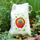 Rainbow Apple Teacher Gift Bag With Seeds
