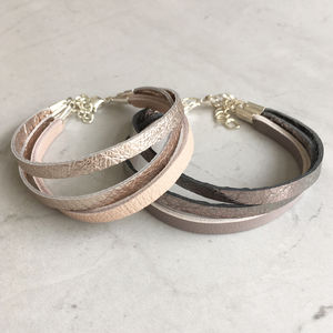 Leather Triple Band Bracelet - bracelets & bangles