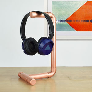 Copper Headphone Stand - 21st birthday gifts