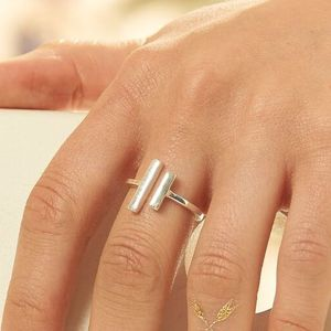 Silver Open Bar Ring - rings