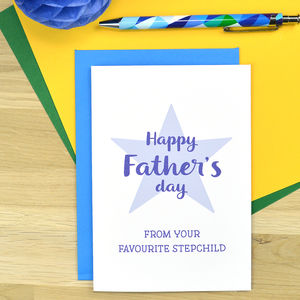Cheeky Step Dad Father's Day Card - cards for step dads