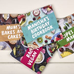 Personalised Birthday Cookbook - children's cooking