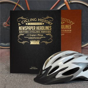 Personalised British Cycling Heroes History Book - personalised
