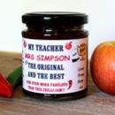 Teacher's Gift Personalised Chilli Jam