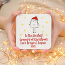 Personalised Bestest Grandfather Christmas Coaster