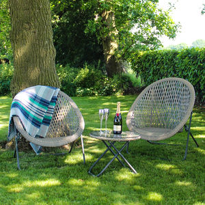 Outdoor Tub Chair Lounge Set - garden furniture
