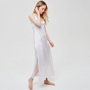 Luxury Long Silk Bridal Nightdress - gifts for her