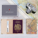 Personalised Vintage Map Passport Case