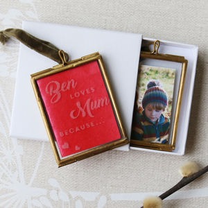 Reasons I Love Mum Personalised Mini Hanging Frame - picture frames