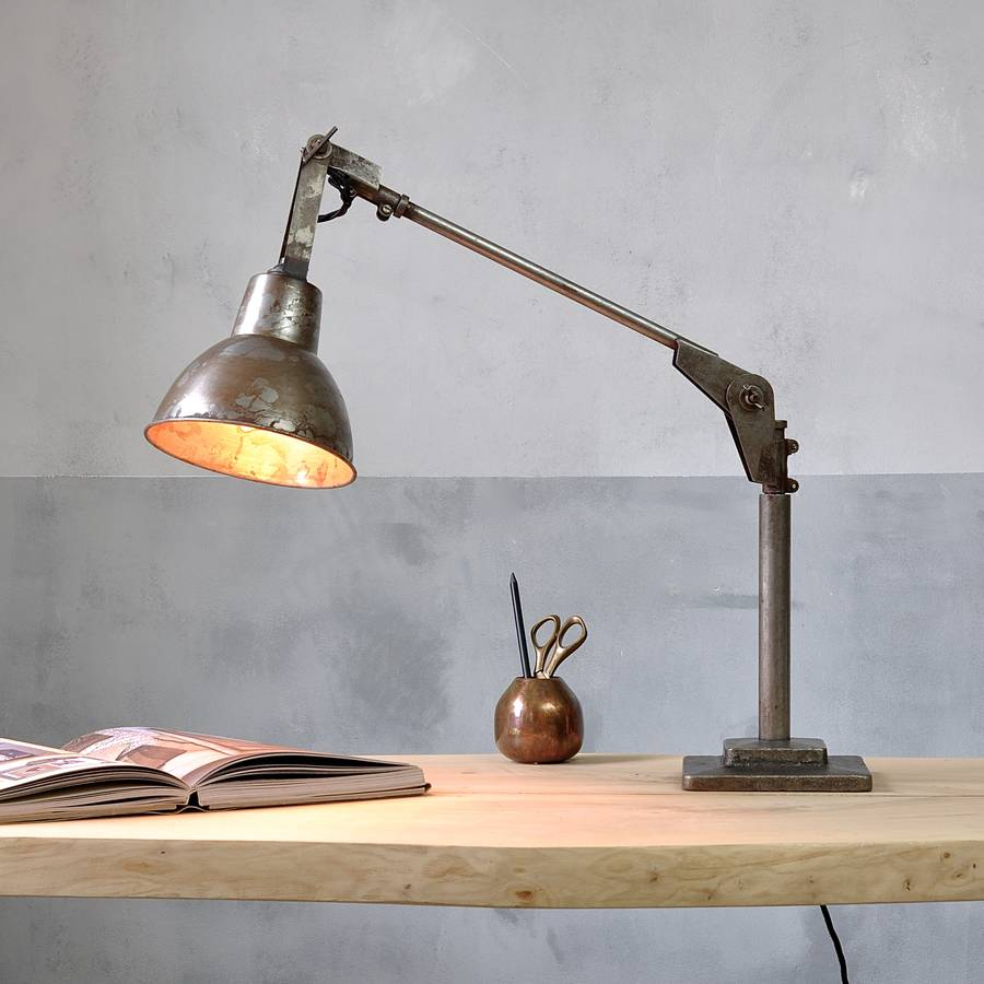 Vintage style desk lamp - Industrial Angle Poise Desk Lamp