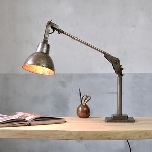 Industrial Angle Poise Desk Lamp - furnishings & fittings