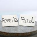 Name Cufflinks Personalised Silver