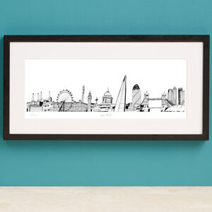 London Skyline Screen Print