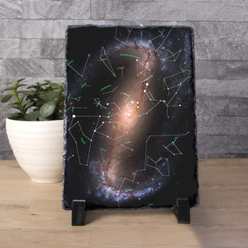 Personalised Constellation Galaxy Slate Art Print