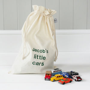 Personalised 'Little Cars' Travel Sack - children's storage