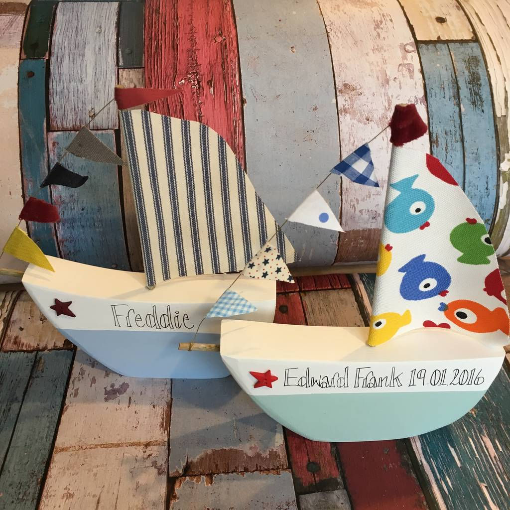 Personalised Freestanding Gift Boat