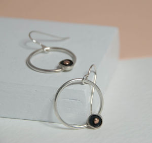 Circle Touch Of Gold Earrings