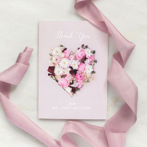 Personalised Thank You Card: Secret Garden Collection