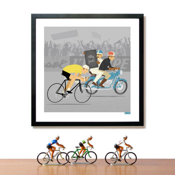 Personalised Cycling Art Print Race Leader