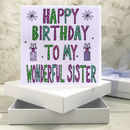 Personalised Sister Birthday Book Card