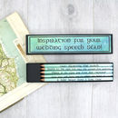 Personalised Irish Love Quote Pencils