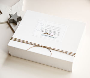 Personalised 30th Birthday Keepsake Box - 30th birthday gifts
