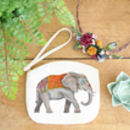 Elephant Canvas Purse