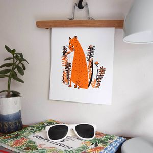 'Dotty About You' Leopard Illustrated Children's Print - pictures & prints for children