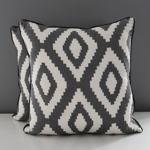 Monochrome Chevron Cushion - bedroom