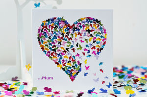Special Mum Kaleidoscope Butterfly Card - cards sent direct