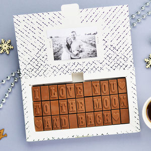 'I Love You To The Moon And Back' Chocolates - winter sale
