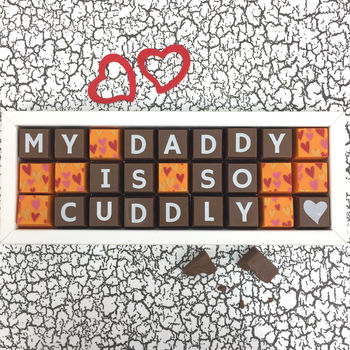 Chocolate Personalised Message For Daddy