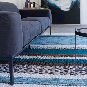 Norway Hand Knotted 100% Wool Rug In Blue - rugs & doormats