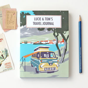Personalised Beach Camper Travel Journal - frequent traveller