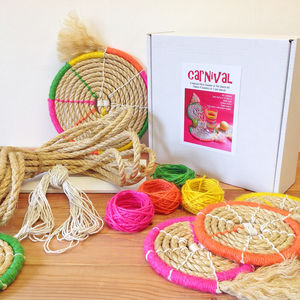 Carnival Rope Coaster Weave Kit - knitting kits