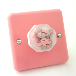 Ballerina Mouse Light Switch - light switches & pulls