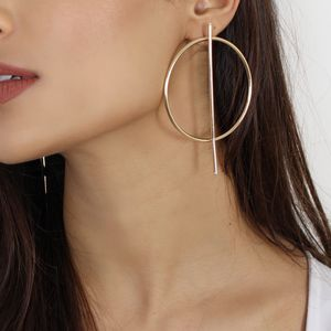Large Geometric Hoop Earrings - earrings