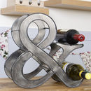Ampersand Industrial Grey Wine Rack