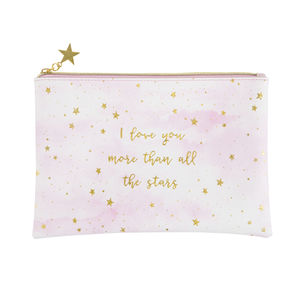 ' I Love You ' Pouch - make-up & wash bags