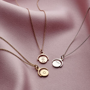 Personalised Mini Spinner Necklace