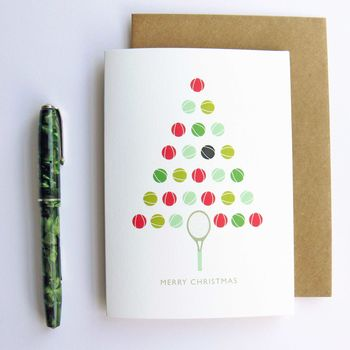 Tennis Ball Christmas Card