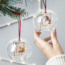 Personalised Photo Glass Bauble