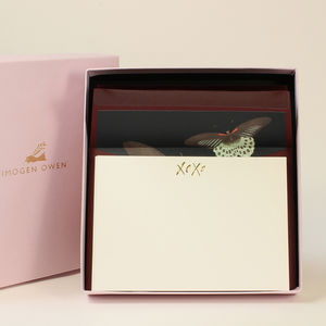 Luxury Butterfly Letter Writing Set - desk accessories