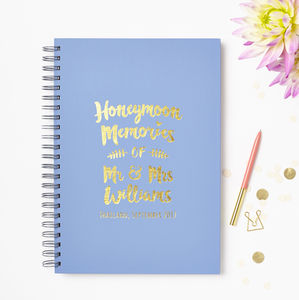 Personalised Honeymoon Memory Book - wedding gifts & cards sale